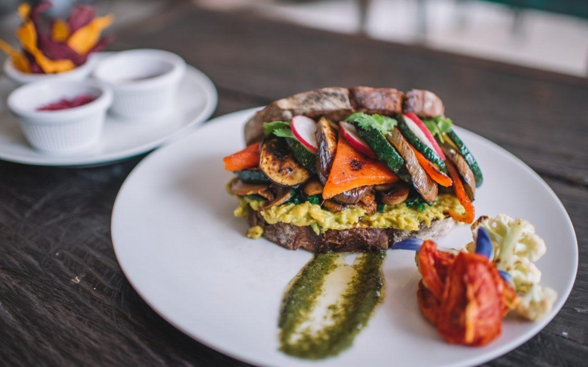 Grilled Veggie Sandwich Rise & Shine cafe Cocobeli