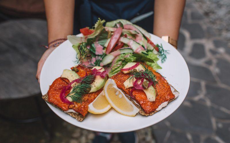 Norwegian-Style Gravlax Open Sandwich Sayuri Healing Food Cocobeli