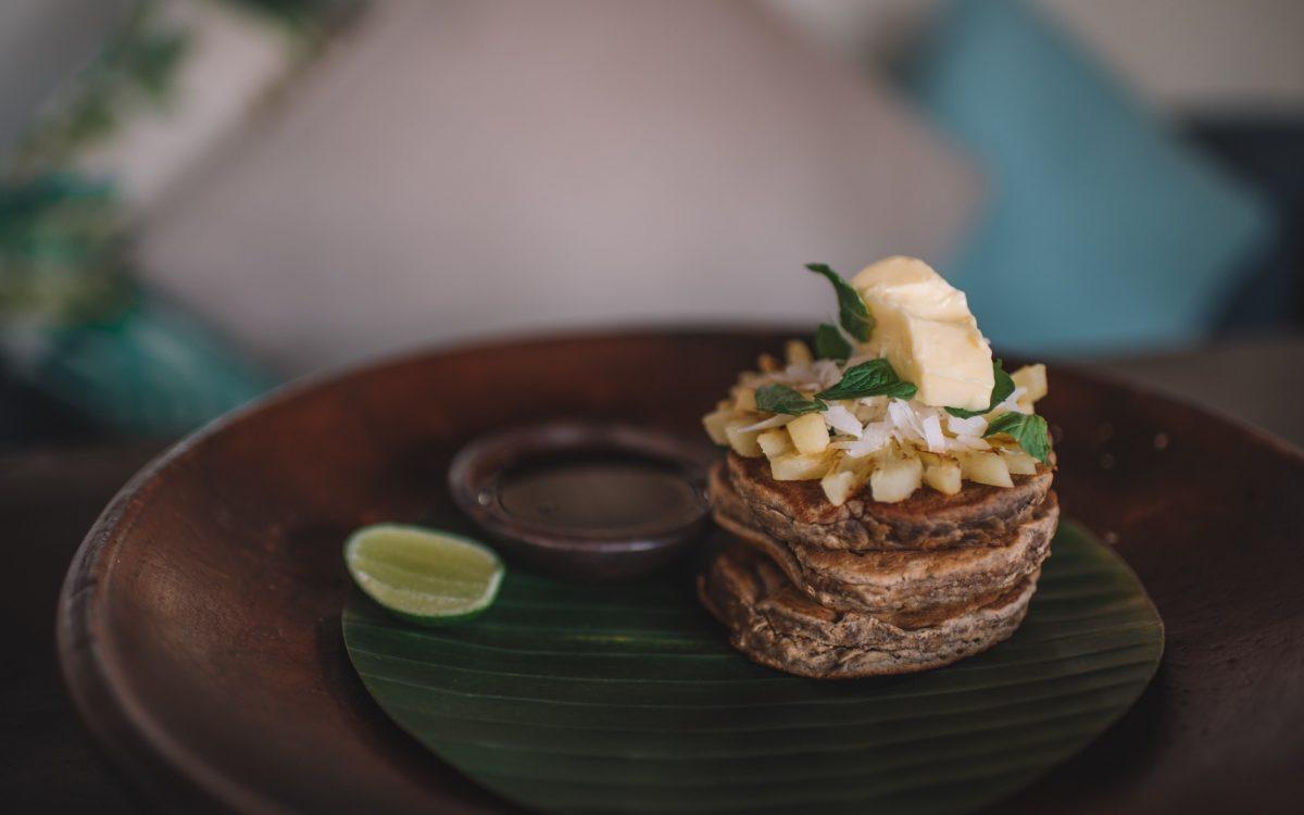 fluffy banana cassava pancakes Bali Buda Cocobeli