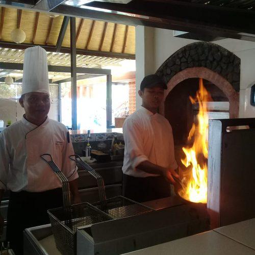 Chef Wayan Sukadana cocobeli Flambe Action