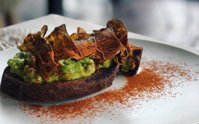 Cocobeli Rye sourdough with avocado mash and eggplant bacon the avocado factory canggu bali4