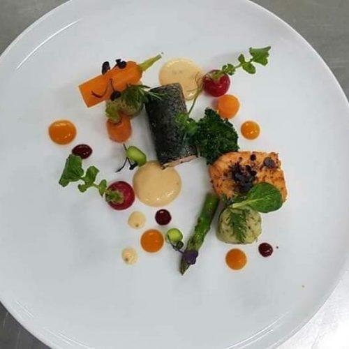 Chef Wayan Sukadana cocobeli Salmon Salad